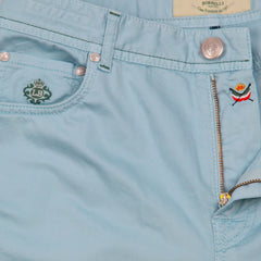 New $400 Borrelli Light Blue Solid Pants - Full - (CHIJ03070) - Parent