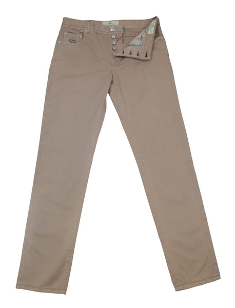 New $400 Borrelli Light Brown Solid Pants - Full - (CHIJ03360) - Parent