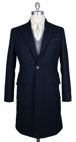 Luigi Borrelli Navy Blue Coat