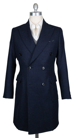 Luigi Borrelli Navy Blue Peacoat