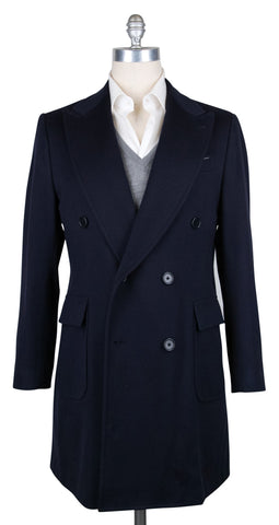 Luigi Borrelli Midnight Navy Blue Peacoat