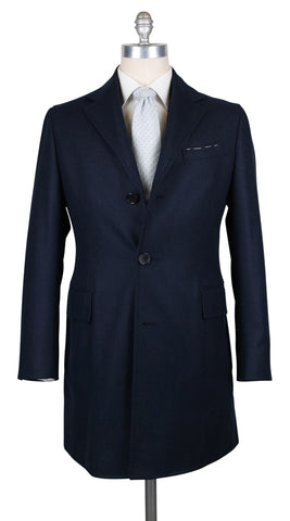 Luigi Borrelli Midnight Navy Blue Coat