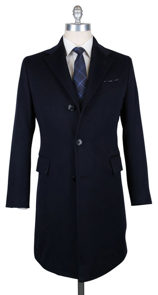 New $5100 Luigi Borrelli Midnight Navy Blue Cashmere Coat - (CU130570) - Parent