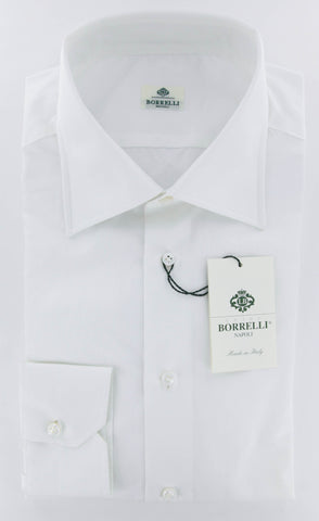 Luigi Borrelli White Shirt - 17 US / 43 EU