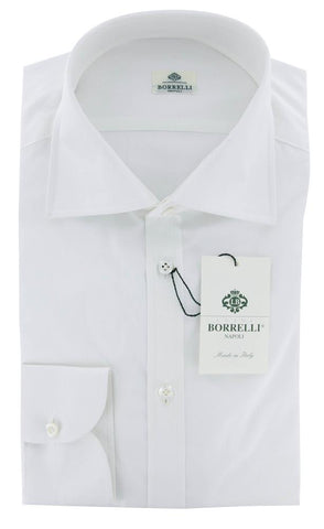 Luigi Borrelli White Shirt - 16.5 US / 42 EU