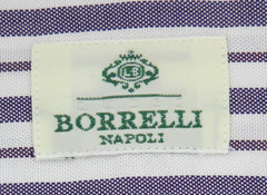 New $450 Luigi Borrelli Blue Striped Shirt - Extra Slim - 17/43 - (EV2022IVO)