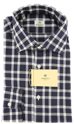Luigi Borrelli Navy Blue Shirt - Extra Slim