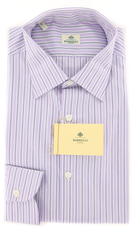 Luigi Borrelli Lavender Purple Shirt - 15.75 US / 40 EU