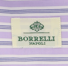 New $450 Borrelli Lavender Purple Shirt - Extra Slim - 16/41 - (EV5090ANTONIO)