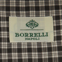 New $450 Borrelli Brown Plaid Shirt - Extra Slim - 16/41 - (EV5373LEONARDO)