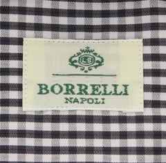New $450 Borrelli Charcoal Gray Shirt - Extra Slim - 15.75/40 - (EV5400ANTONIO)