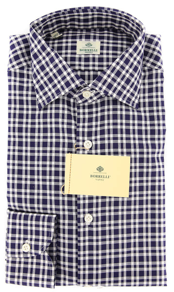 Luigi Borrelli Navy Blue Shirt - 15.75 US / 40 EU