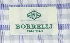New $450 Luigi Borrelli Blue Check Shirt - Extra Slim - 17/43 - (EV69932RIO)