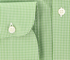 New $450 Luigi Borrelli Green Shirt - Extra Slim - 15.5/39 - (EV912GIOSUE)