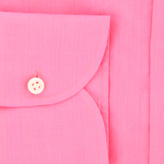 New $450 Luigi Borrelli Pink Solid Shirt - Extra Slim - (EV061143N35) - Parent