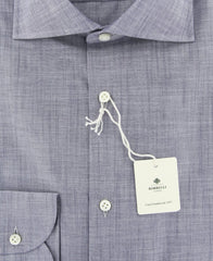 New $450 Luigi Borrelli Gray Solid Shirt - Extra Slim - (EV0616572) - Parent