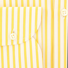 New $450 Luigi Borrelli Yellow Shirt - Extra Slim - (EV061840AL10) - Parent