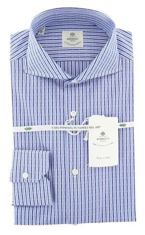 Luigi Borrelli Blue Shirt - Extra Slim