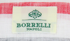 New $450 Luigi Borrelli White Striped Shirt - Extra Slim - (L1222171) - Parent