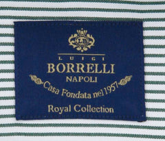 New $600 Luigi Borrelli Green Shirt - Extra Slim - (EV0600950NANDO) - Parent