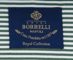 New $600 Luigi Borrelli Green Shirt - Extra Slim - (EV0601150NANDO) - Parent