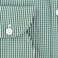 New $600 Luigi Borrelli Green Shirt - Extra Slim - (EV0601250NANDO) - Parent