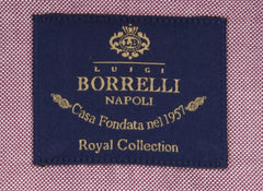 New $600 Luigi Borrelli Purple Shirt - Extra Slim - (EV06RC10381) - Parent