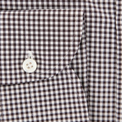New $600 Luigi Borrelli Brown Shirt - Extra Slim - (EV06RC10760) - Parent