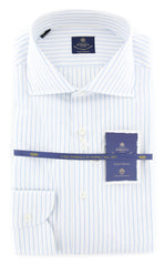 New $600 Luigi Borrelli Light Blue Shirt - (EV06108170ACHILLE) - Parent