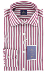 New $600 Luigi Borrelli Red Shirt - Extra Slim - (EV06RC130340) - Parent