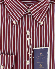 New $600 Luigi Borrelli Red Shirt - Extra Slim - (EV06RC131442) - Parent