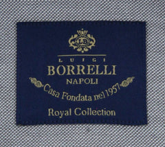 New $600 Luigi Borrelli Gray Shirt - Extra Slim - (EV06RC132030) - Parent