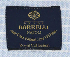 New $600 Luigi Borrelli Light Blue Shirt - (EV061501STEFANO) - Parent