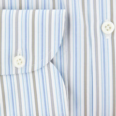 New $600 Luigi Borrelli Blue Shirt - Extra Slim - (EV061806ACHILLE) - Parent