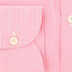 New $600 Luigi Borrelli Pink Shirt - Extra Slim - (EV061936ACHILLE) - Parent