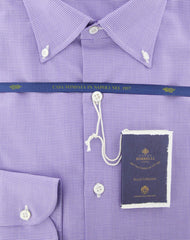 New $600 Luigi Borrelli Purple Shirt - Extra Slim - (EV062448STEFANO) - Parent