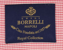 New $600 Luigi Borrelli Red Shirt - Extra Slim - (EV0628941GIANNI) - Parent