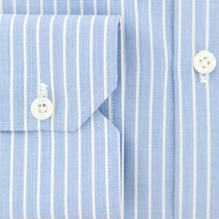 New $600 Luigi Borrelli Blue Shirt - Extra Slim - (EV0629771SEVERO) - Parent