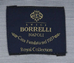 New $600 Luigi Borrelli Gray Shirt - Extra Slim - (EV06400230SEVERO) - Parent