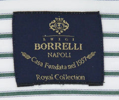 New $600 Luigi Borrelli Green Shirt - Extra Slim - (EV06400550SEVERO) - Parent