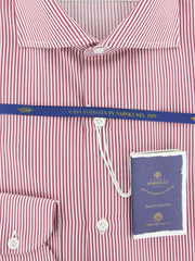 New $600 Luigi Borrelli Red Shirt - Extra Slim - (EV06402343NANDO) - Parent
