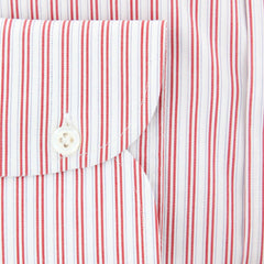 New $600 Luigi Borrelli Red Shirt - Extra Slim - (EV06402940NANDO) - Parent