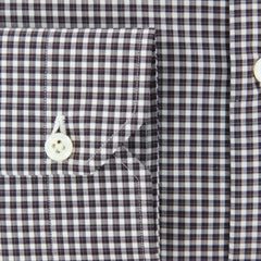 New $600 Luigi Borrelli Brown Shirt - Extra Slim - (EV06409860SEVERO) - Parent