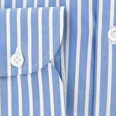 New $600 Luigi Borrelli Blue Shirt - Extra Slim - (EV06411573NANDO) - Parent