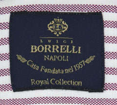 New $600 Luigi Borrelli Purple Shirt - Extra Slim - (EV06412280RIO) - Parent