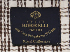 New $600 Luigi Borrelli Brown Shirt - Extra Slim - (EV06RC412761) - Parent