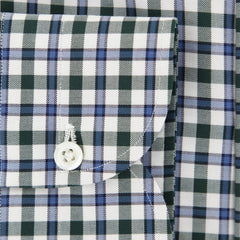 New $600 Luigi Borrelli Green Plaid Shirt - Extra Slim - (RC414650PT1) - Parent