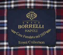 New $600 Luigi Borrelli Burgundy Red Shirt - (EV06414740STEFANO) - Parent