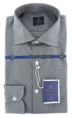 New $600 Luigi Borrelli Gray Shirt - Extra Slim - 16.5/42 - (EV06423230RIO)