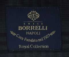 New $600 Luigi Borrelli Charcoal Gray Shirt - (EV06423335RIO) - Parent